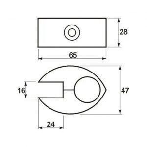 Размеры крепления Джокер | joker R-7 соединение для дсп и стекла (с вкладышем) в интернет магазине Феникс , мебельная фурнитура, мебельные трубы и комплектующие Оптовые цены