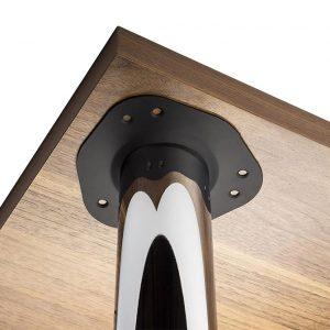 пример крепления ножки для стола, опоры мебельной 710 на 60 в интернет магазине мебельной фурнитуры Феникс г. Харьков с доставкой по Украине