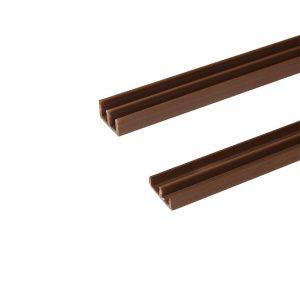 Стеклонаправляющие коричневые, стекло направляющая коричневая, стекло направляющие купить в интернет магазине мебельной фурнитуры Феникс г. Харьков с доставкой по Украине