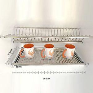 Сушилка для посуды из нержавеющей стали встраиваемая в нишу 700 мм, 70 сантиметров, два яруса купить Харьков, Украина,