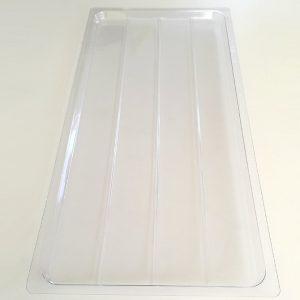 прозрачный пластиковый поддон для суушки из нержавеющей стали навесной