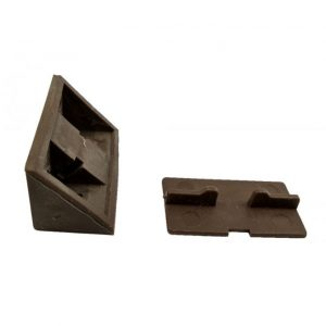 Уголок монтажный двойной темно-коричневый в интернет магазине мебельной фурнитуры Феникс г. Харьков с доставкой по Украине