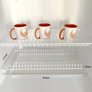 сушка для посуды, сушилка в кухню, белая 600 мм, 60 сантиметров, встраиваемая в шкаф, подвесная