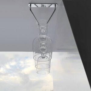 Бокалодержатель потолочный одинарный 350 мм живое фото