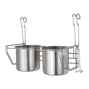 купить Ведро двойное 263 на релинг для кухни, для полотенец, хром