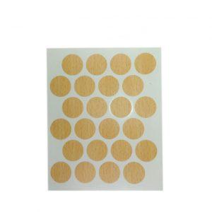 Заглушка cамоклейка к минификсу WEISS бук 7011 в интернет магазине мебельной фурнитуры Феникс г. Харьков с доставкой по Украине