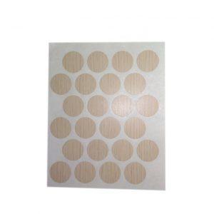 Заглушка cамоклейка к минификсу WEISS дуб молочный 7523 в интернет магазине мебельной фурнитуры Феникс г. Харьков с доставкой по Украине