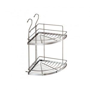 купить полку двойную угловую на рйелинг в интернет магазине мебельной фурнитуры Феникс г. Харьков с доставкой по Украине