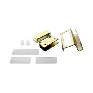 купить стеклокомплект золото две петли+ручка в интернет магазине мебельной фурнитуры Феникс г. Харьков с доставкой по Украине