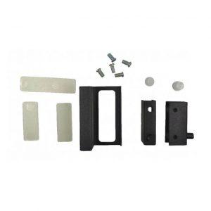 купить стеклокомплект черный (две петли+ручка) в интернет магазине мебельной фурнитуры Феникс г. Харьков с доставкой по Украине