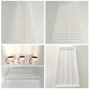 Сушки для посуды с белым полимерным покрытием
