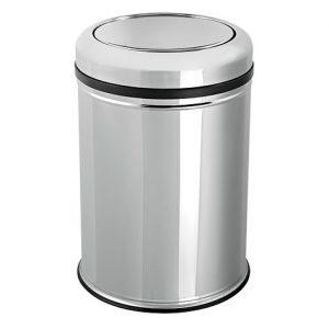 купить ведро для кухни, офиса, мусорное ведро на 8 литров хром в интернет магазине мебельной фурнитуры Феникс г. Харьков с доставкой по Украине