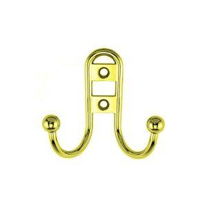 купить крючок мебельный 220 золото (0347) маленький в интернет магазине мебельной фурнитуры Феникс г. Харьков с доставкой по Украине