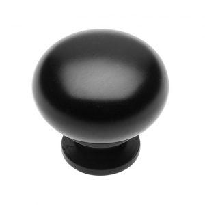 Ручка кнопка BERGAMO черная матовая в интернет магазине мебельной фурнитуры Феникс г. Харьков с доставкой по Украине